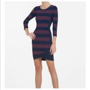 BCBGMAXAZRIA Bodycon Striped Dress